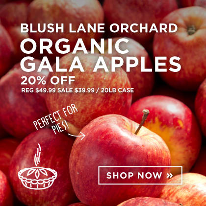 Blush Lane Orchard: Organic Gala Apples 20% Off