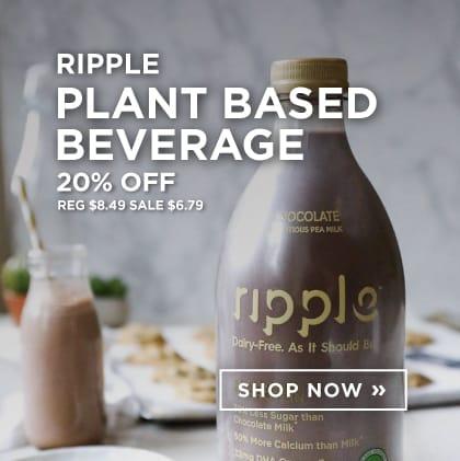 Ripple: Plant Based Beverage 20% Off