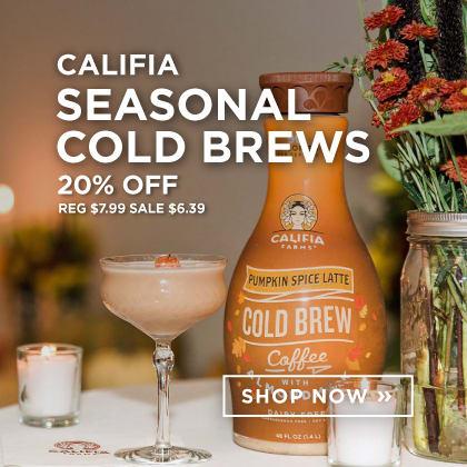 Califia: Seasonal Cold Brews 20% Off