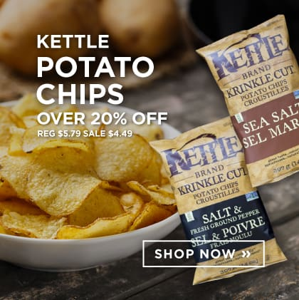 Kettle Potato Chips Over 20% Off