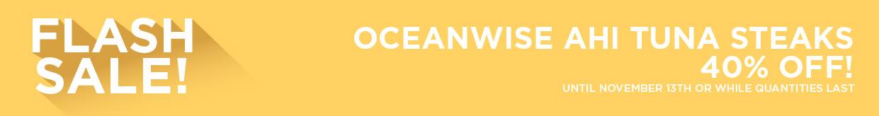 Oceanwise Ahi Tuna Steaks 40% Off!