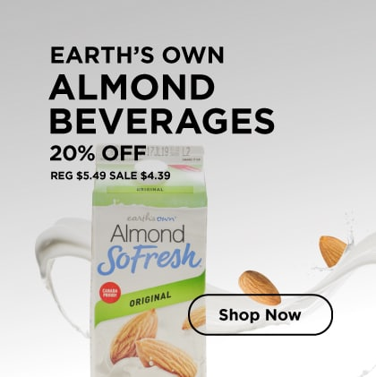 Earth's Own Almond Beverages 20% Off