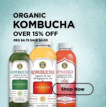 Organic Kombucha Over 15% Off