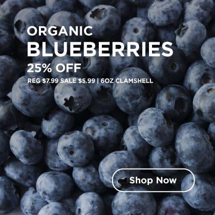 Organic Blueberries 25% Off