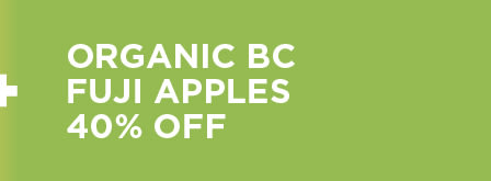 Organic Fuji Apples Over 40% Off