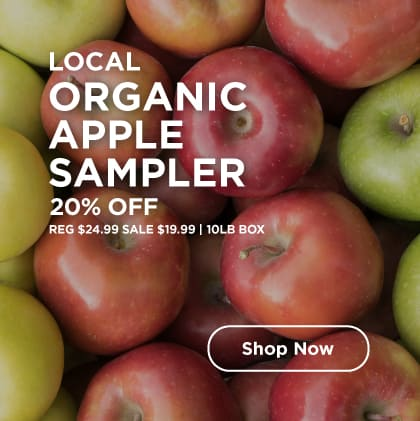 Local Organic Apple Sampler 20% Off