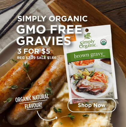 Simply Organic GMO Free Gravies 3 for 5$