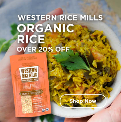 Western Rice Mills Organic Rice Over 20% Off