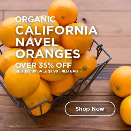 Organic California Navel Oranges Over 35% Off