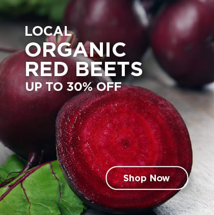Local Organic Red Beets Up to 30% Off