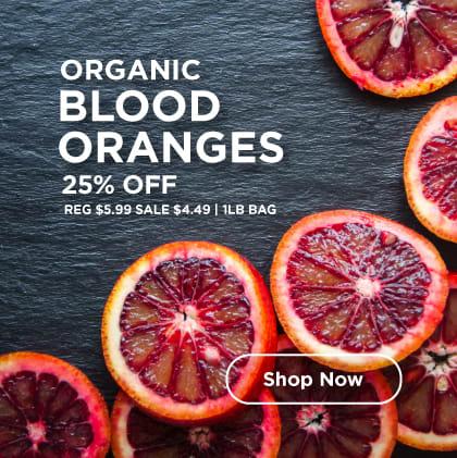Organic Blood Oranges 25% Off