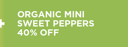 Organic Mini Sweet peppers 40% Off