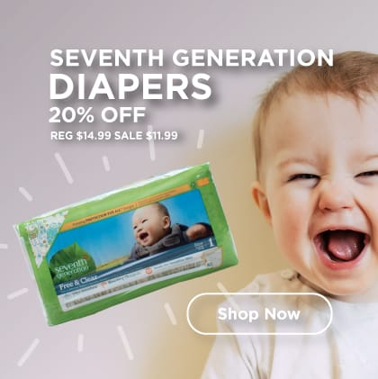 Seventh Generation Diapers 20% Off