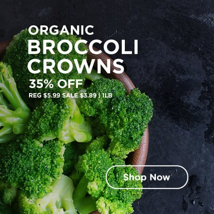 Organic Broccoli Crowns 35% Off