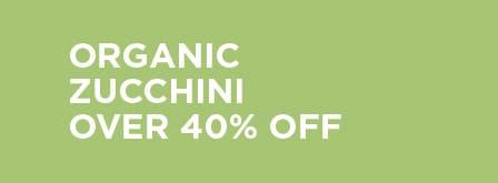 Organic Zucchini Over 40% Off