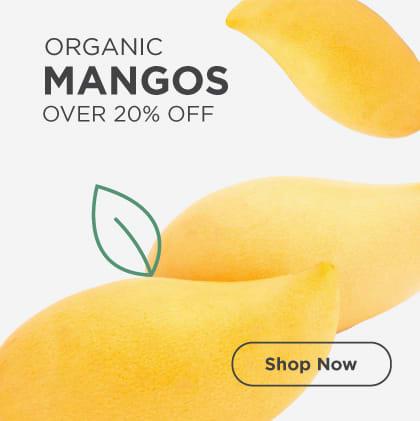 Organic Mangos Over 20% Off