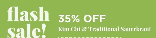 Kim Chi and Traditional Sauerkraut 35% Off