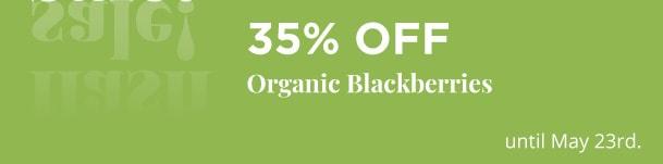 Organic Blackberries 35% Off
