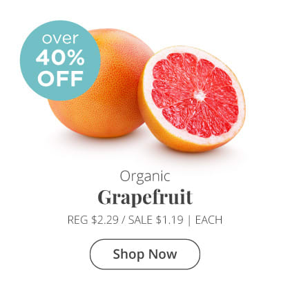 Organic Grapefruit Over 40% Off