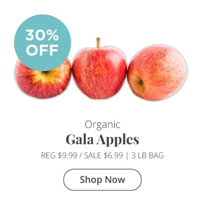 30% Off Gala Apples!