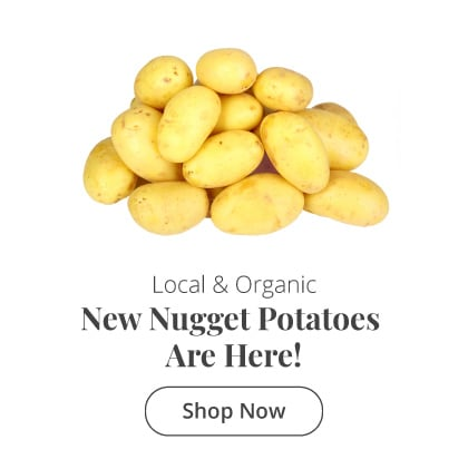 Local Organic New Nugget Potatoes are here!