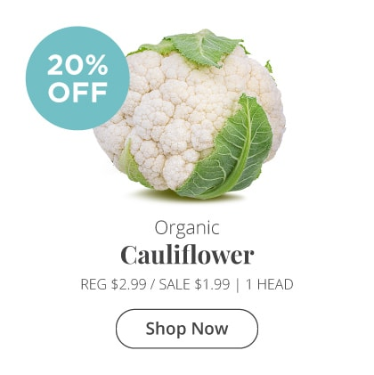Organic Cauliflower 20% Off
