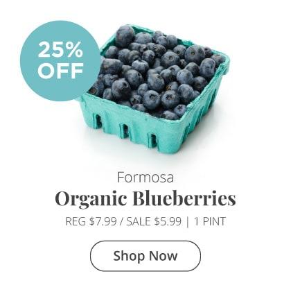 Formosa Local Organic Blueberries 25% Off