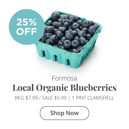 Formosa Local Organic Blueberries 25% Off