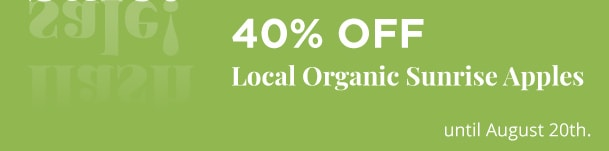 Local Organic Sunrise Apples - 40% Off