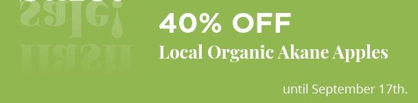 Local Organic Akane Apples - 40% Off