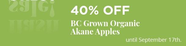 BC Grown Organic Akane Apples - 40% Off