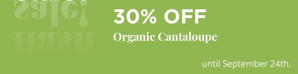 Organic Cantaloupe - 30% Off