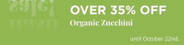 Over 35% Off - Organic Zucchini