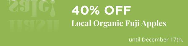 Local Organic Fuji Apples - 40% Off