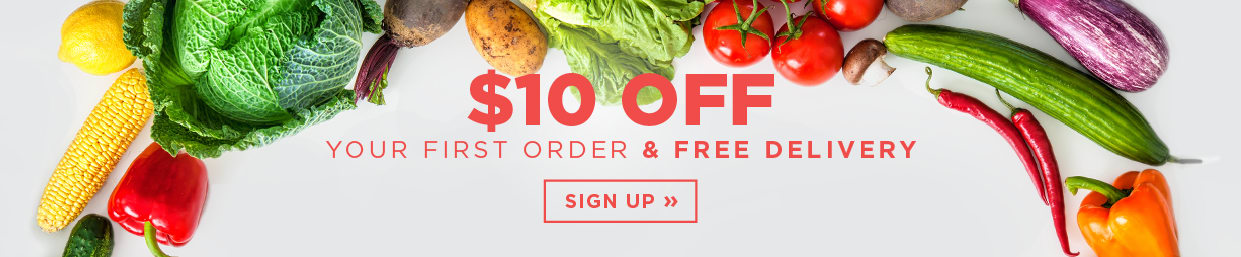 Get $10 off when you spend over $50 on your first order!