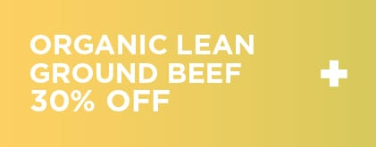 Organic Lean Ground Beef 30% Off