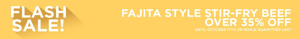 Fajita Style Stir-Fry Beef Over 35% Off