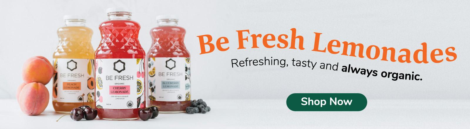 Be Fresh Lemonades - Refreshing tasty and always organic