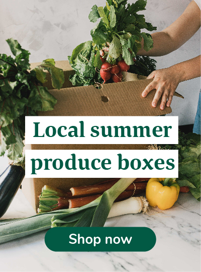 Local summer produce boxes