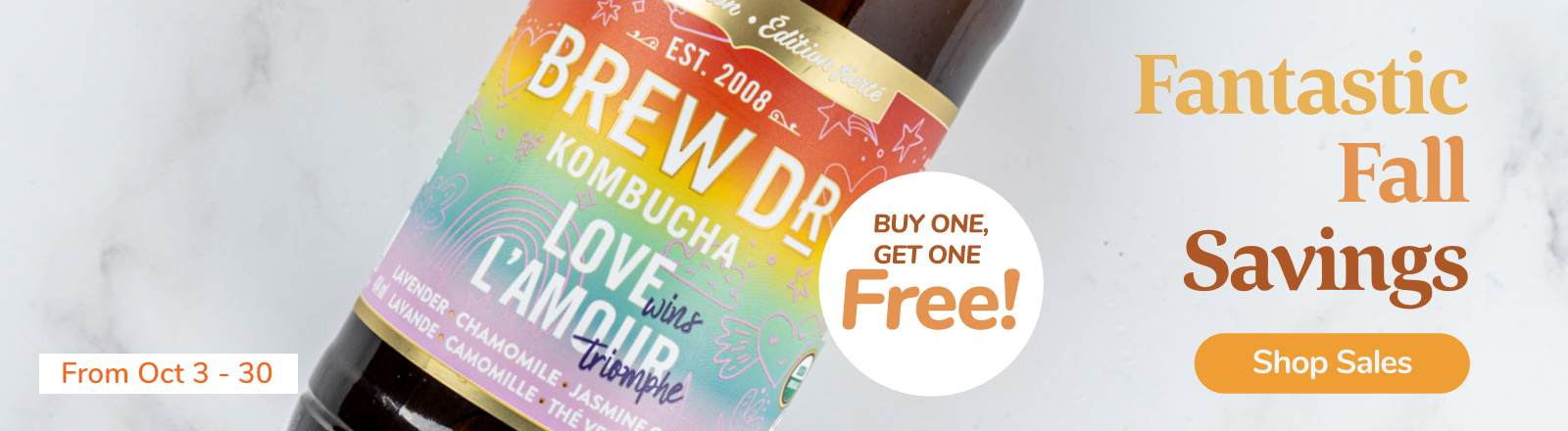 Buy One Get One Free on Brew Dr.
