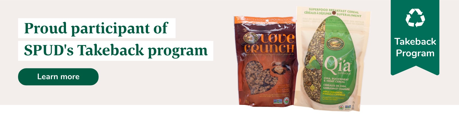 Nature's Path is a proud participant of the Take Back Program