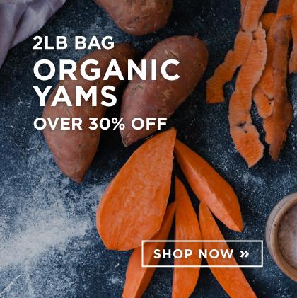 2LB Bag Organic Yams Over 30% Off