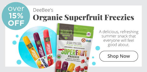 Organic Superfruit Freezies Over 15% Off