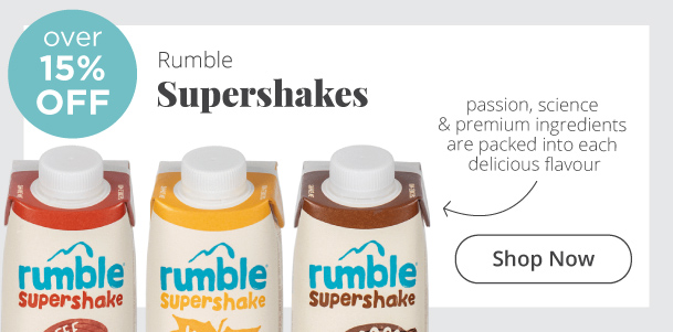 Rumble Supershakes Over 15% Off