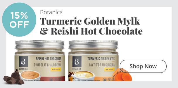 Botanica - Turmeric Golden Mylk & Reishi Hot Chocolate - 15% Off