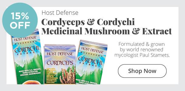 Host Defense - Cordyceps & Cordychi medicinal mushroom & extract - 15% Off