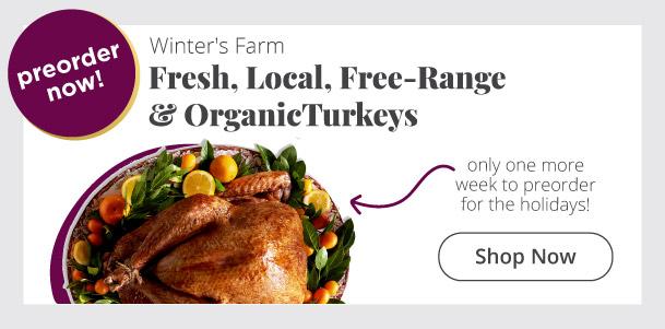Fresh Local Free Range & Organic Turkeys