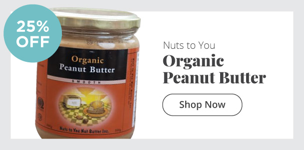 Nuts to You - Organic Peanut Butter - 25% Off