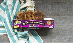 Organic Sprouted Cinnamon Raisin English Muffins (Frozen)- Code#: BR103