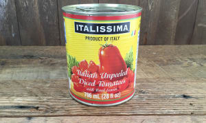 Italian Unpeeled Diced Plum Tomatoes- Code#: BU8030